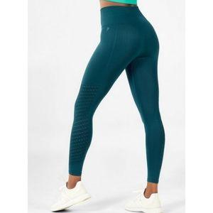 Fabletics sync teal blue seamless mesh leggings